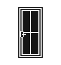 Glass door icon simple style vector image