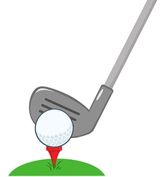 Golf Club And Ball Ready vector image