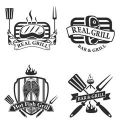 Grill bar vector