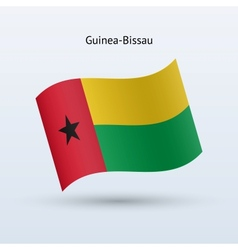 Guinea-Bissau flag waving form vector image