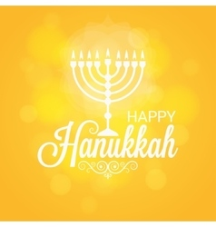 Hanukkah Card Sun Lights Background vector