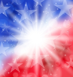 Happy 4th july card with place for text vector