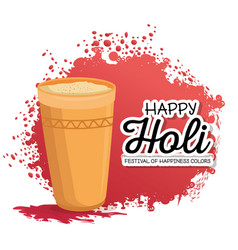 Happy holi festival colors vector