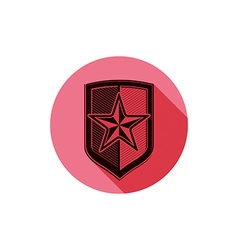 Heraldry theme conceptual icon protection shield vector image