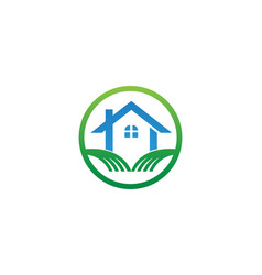 home logo and symbols vector image