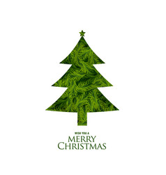 Isolated christmas tree made with fir leaves vector