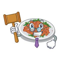 Judge sesame chicken in character shape vector