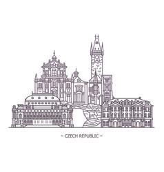 landmarks czech republic vector image