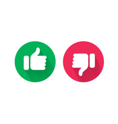 like and unlike thumb up and down icons vector image
