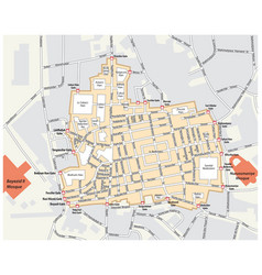Map grand bazaar istanbul turkey vector