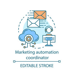 Marketing automation coordinator concept icon vector