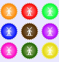 Mill icon sign Big set of colorful diverse vector