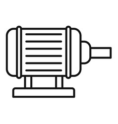 Motor pump irrigation icon outline style vector