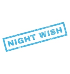 Night Wish Rubber Stamp vector image