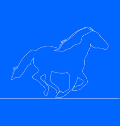 one line horse design vector image