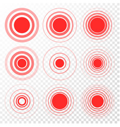Pain target red ring from thin to thick vector