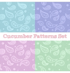 Paisley seamless patterns set in pastel colors vector