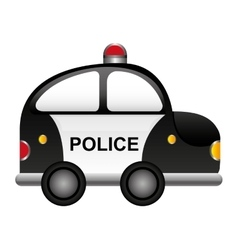 police patrol vehicle cartoon vector image