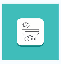 round button for trolly baby kids push stroller vector image