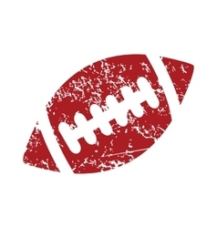 Rugby ball red grunge icon vector