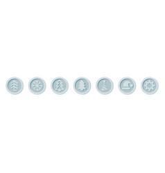 Santa claus crypto currency coins christmas winter vector