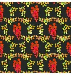 Seamless pattern autumn design vector