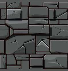 seamless texture of gray geometric stone vector image