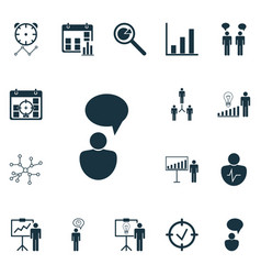 Set of 16 board icons includes special vector