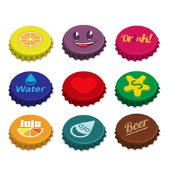Set of bottle caps vector image