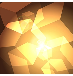 shining cubes vector image