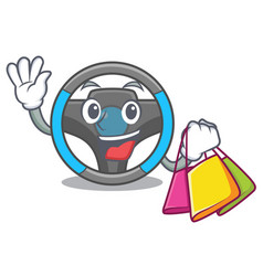 shopping steering wheel in the character shape vector image