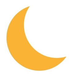 single moon icon vector image