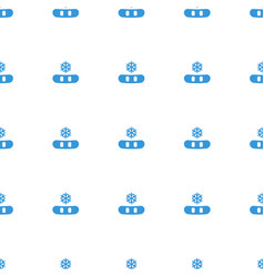 snowflake icon pattern seamless white background vector image