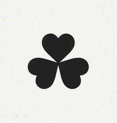 three leaf clover icon vector image