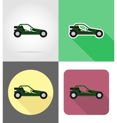 transport flat icons 48 vector image