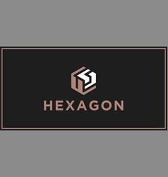 Us hexagon logo design inspiration vector