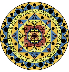 yellow-blue mandala vector image