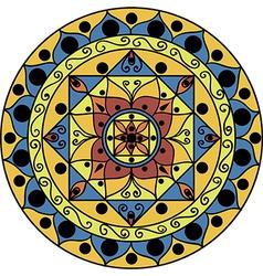 yellow-blue mandala vector image