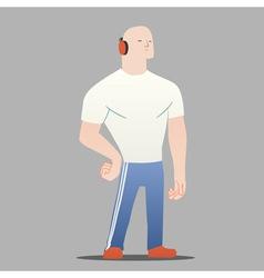 big man vector image