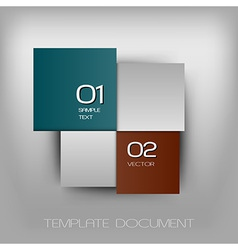 business four squares dark two color with text vector image vector image