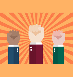 human hand protesters vector image