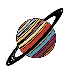 planet saturn astronomy universe icon vector image vector image