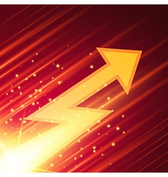 Abstract background with glowing arrow vector image vector image