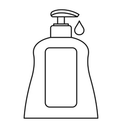 Body care lotion icon outline style vector