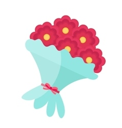 Bouquet of flowers icon flat design Isolated on vector image vector image
