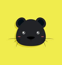 cartoon panther face vector image