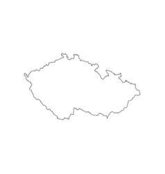 czech republic map outline vector image vector image