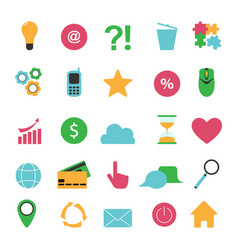internet color symbols for web site design vector image