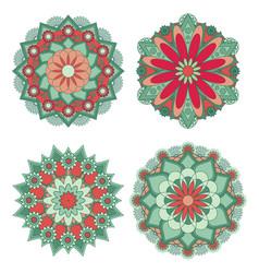 Mandala vintage decorative elements vector