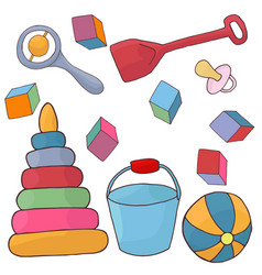 toys for baby plaything for children vector image